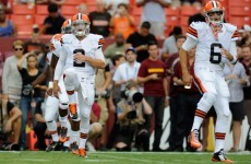Hoyer named as Browns starting QB at expense of Manziel