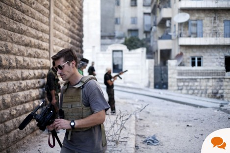 The late journalist James Foley in Aleppo, Syria, September 2012.