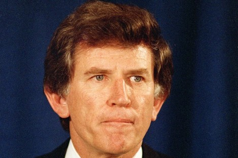 Gary Hart during his ill-fated bid for the US presidency in 1987