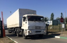 """""""Time for peace"""" as Russian convoy returns from Ukraine"""