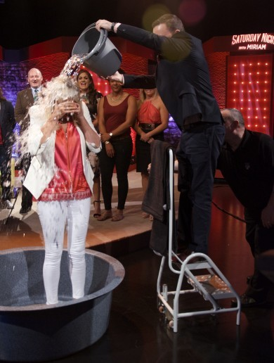 Miriam O'Callaghan took the ice bucket challenge on her show last night