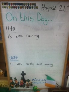 Waterford gift shop has the most Irish 'on this day' trivia sign ever