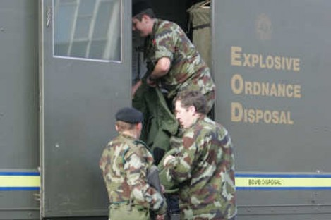 The army bomb disposal team was called to the house in Louth