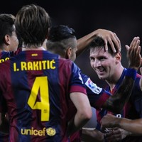 Leo Messi was back scoring at will in La Liga last night
