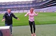 Rachel Wyse did the ice bucket challenge, and Marty Morrissey helped her