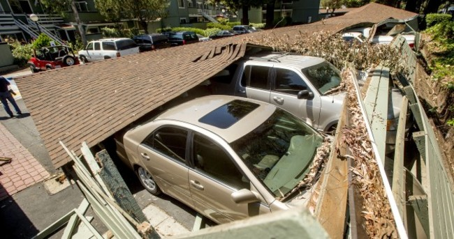 Child crushed by fireplace in California earthquake