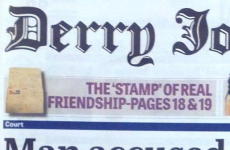 The Derry Journal has the most WTF front page in Ireland today