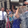 """""""The water has frozen my brain"""": The ice bucket challenge came to Kildare St and the Mansion House today"""