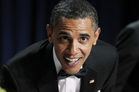 """""""More peas?"""" Barack Obama has asked his followers what they'd like to discuss over dinner"""