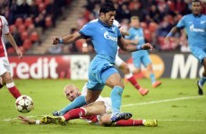 Hulk helps Zenit advance while Porto cruise past Lille