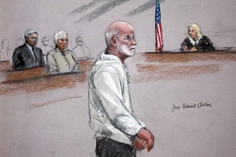 James 'Whitey' Bulger in court in Boston last week.