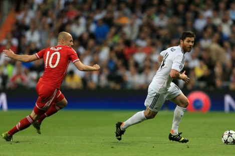 Alonso facing Bayern Munich in last season's Champions League.