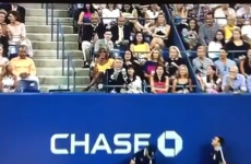 Look at Alec Baldwin's amazing tennis ball catch