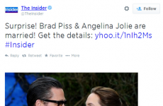 "Entertainment show accidentally refers to Brad Pitt as ""Brad Piss"" in tweet"