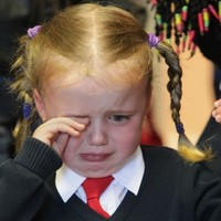 """Tears and colouring in: New students start """"big school"""""""