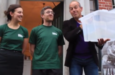 Phil from Location, Location, Location helps with Dublin Ice Bucket Challenge