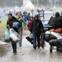 In photos: Festivalgoers arrive at Electric Picnic in the rain and mud