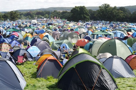File photo of a camping area at Electric Picnic in 2012