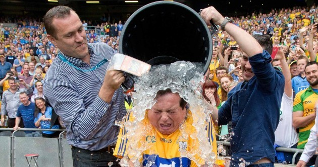 Holy Moses! Marty Morrissey takes the ice bucket challenge in Croke Park