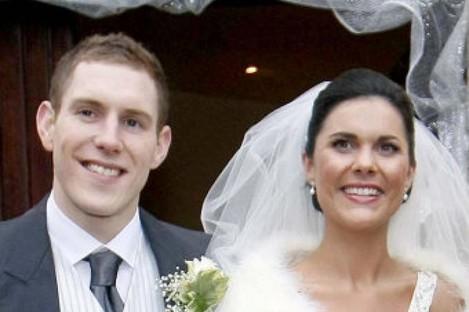 Photo courtesy of the Irish News of John McAreavey and wife Michaela Harte on their wedding day at St. Malacheys Church Ballymacilrory on December 30, 2010
