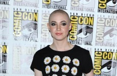 Here's a video of Karen Gillian shaving all her lovely hair off