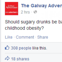 'Sugary drunks' typo on The Galway Advertiser's Facebook yields hilarious replies