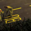 This video of men painting lettering on the road is strangely mesmerising