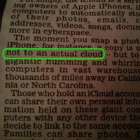 Daily Mail explains to its readers that the iCloud is not, in fact, an actual cloud