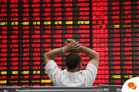 An investor watches rising prices on the Chinese stock exchange