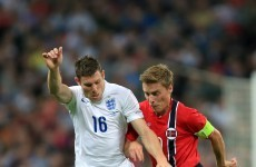 This woeful James Milner pass sums up how bad the England-Norway game was last night