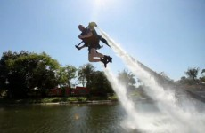 Watch: The future is here... and it's jetpack-shaped