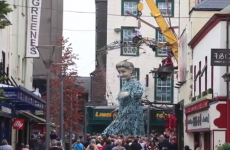 You have to see the giant granny actually walking through Limerick