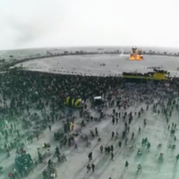 Amazing drone footage shows the insanity of the Burning Man festival