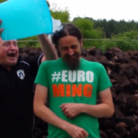 It looks like Luke 'Ming' Flanagan actually enjoyed his Ice Bucket Challenge