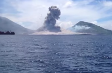 Amazing tourist video captures the moment a volcano explodes