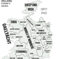 This map perfectly encapsulates how Dubliners perceive the rest of Ireland