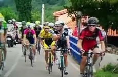 Two riders had a digging match during today's stage of the Vuelta