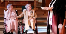 Vivian and Alice are both in their 90s and have been together 72 years. They tied the knot on Saturday.