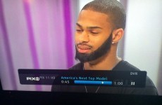 A male contestant on America's Next Top Model was given a 'beard weave'