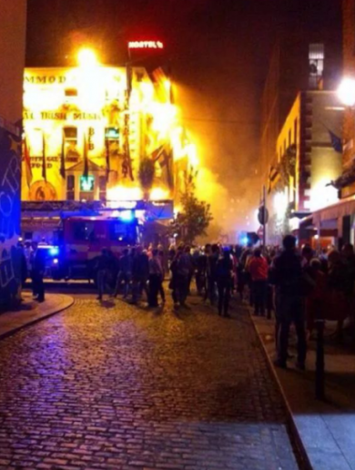 Firefighters tackle overnight blaze in Temple Bar