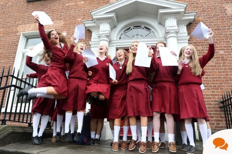Loreto girls jumping for joy after getting their results last year.