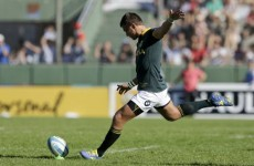 Cruden returns for All Blacks as South Africa go for novice out-half