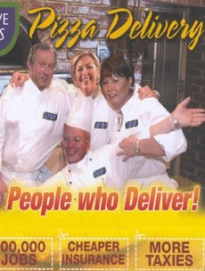 Back in time:  This 'Pizza Delivery' leaflet from the PDs is truly bizarre...