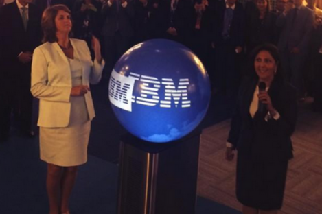 Tánaiste Joan Burton at the opening of the new IBM digital sales centre today.