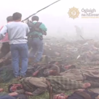 Watch 1,500 Irish soldiers groan with pain on the Braveheart battlefield