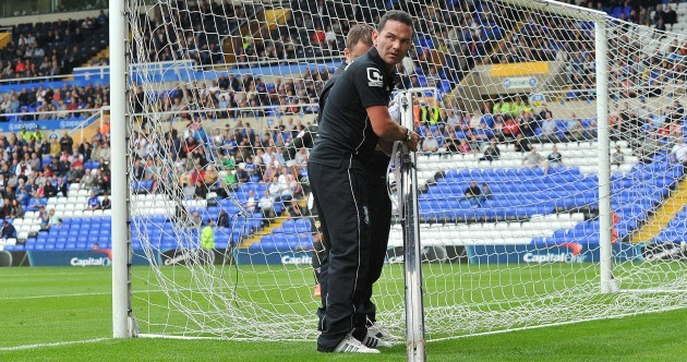 Birmingham v Leeds stopped for emergency repairs after Thomas strike breaks net