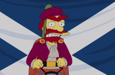 The Simpsons' Groundskeeper Willie has weighed in on Scottish independence...