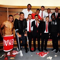 So...Samuel L Jackson was chilling in the Arsenal dressing room yesterday