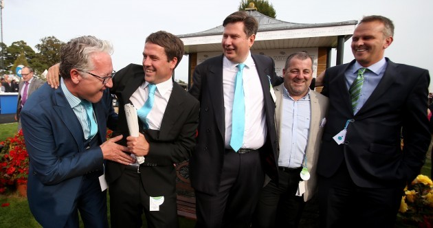 Michael Owen's horse was a shock winner of today's big race at the Curragh
