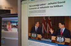 As of this morning, you can now read RTÉ news online 'as Gaeilge'